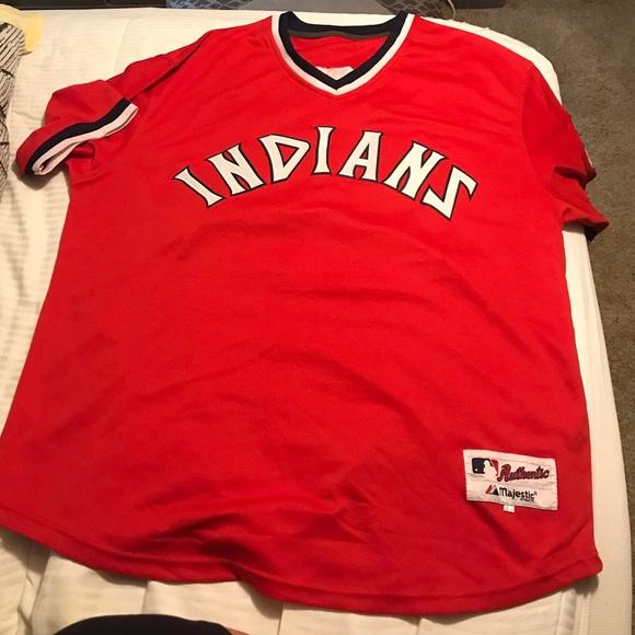 size 40 e6182 7175e Cleveland Indians Majestic Jersey-Jim Thome